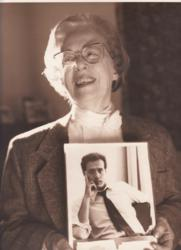 PFLAG Jeanne Manford holds a picture of her son, LGBT activist Morty Manford, circa 1993